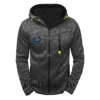 Indianapolis Colts Rugby Team Hoodie Zipper Sweatshirt Casual Jacket Coat