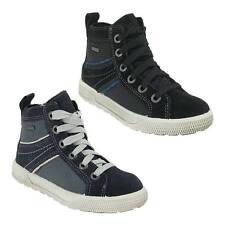 Freizeit-Turnschuhe/- Sneaker für Mädchen aus Leder mit Schnürsenkeln