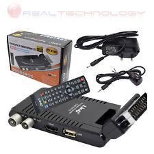 DECODER DIGITALE TERRESTRE SCART CON HDMI FULL HD CON CODEC H.265 LINQ T2-H265