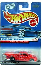 2000 Hot Wheels #67 First Edition Chevy Pro Stock Truck lite purple tampo