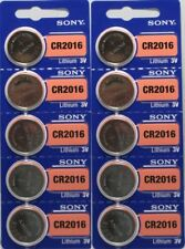 **FRESH NEW** 10 x SONY CR2016 Lithium Battery 3V Exp 2027 Pack 10 Pcs Coin Cell