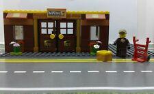 Lego Custom City UPS Store / Office. Mini fig. Boxes Parking. Ready to Play