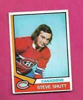 1974-75 OPC # 316 CANADIENS STEVE SHUTT  ROOKIE EX+ CARD (INV# D2670)