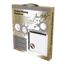 Tonic Studio Tim Holtz Travel Stamping platform clear/rubber STAMP press 1711e