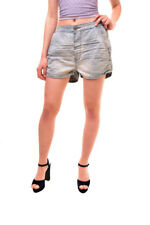 One Teaspoon Women's Authentic Relaxed Fit Shorts Blue Size 26