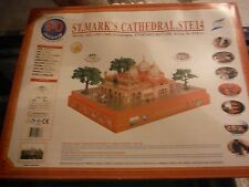 NEW Saint Marks Church,Venice Italy 1050-1069 3-D Puzzle w/Lights/Trees/People