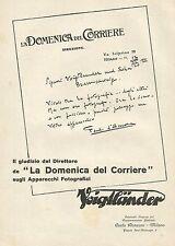 W0294 Apparecchi Fotografici VOIGTLANDER - Pubblicità 1929 - Advertising