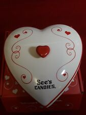 See's Candies Heart Love Dish 5""