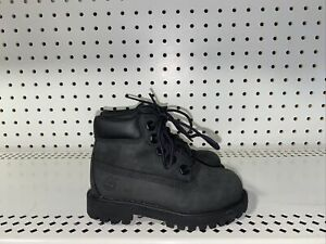 """Timberland 6"""" Premium Boys Toddler Youth Waterproof Boots Size 7 Black 12807"""