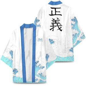 Japan Anime Printed Kimono ONE PIECE Luffy Men Casual Coat Jacket Cardigan robe