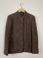 Vintage 1970 Morty Sussman Mollie Parnis Boutique Brown Blazer Jacket Rare Union