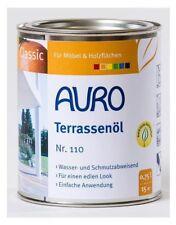 AURO Terrassen Öl Nr. 110 teak 0,75 L Holzschutz Öl Terassen Möbel