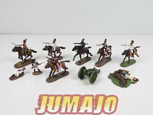 AUS1 LOT 10 SOLDAT 1/50 décor guerre AUSTERLITZ Napoléon  del prado : cavaliers