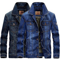 fashion New Men's Jean jackets vintage Denim Jacket  Casual Cotton cowboy Coat