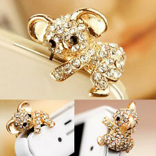 3.5mm Koala Crystal Ear Cap Anti Dust Jack Plug Stopper Cover For IPhone Samsung
