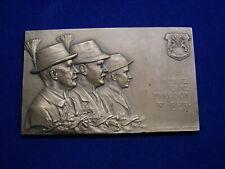 Plakette Bronze Neujahr 1907 Farber in Jägertracht v. Schäfer W/21/995