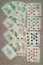 Playing Cards alte Spielkarten B. Dondorf Frankfurt Jagdkarte 32 Blatt um 1928