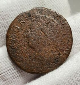 1786 Vermont Colonial Copper Coin - RR-11 - Rarity 4 - Draped Bust Left
