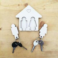 Laserò Keyring Keychain Key Holder for Wall | Wooden Storage Accessories for