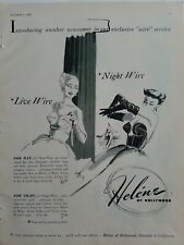 1949 women's Helen of Hollywood Live night wire day night bra vintage fashion ad