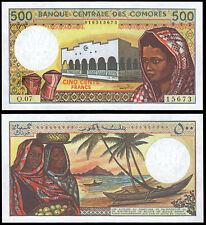 COMOROS 500 FRANCS (P10b) N. D. (1994) UNC