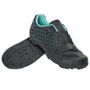 Scott MTB Comp Boa Lady Shoes 40 Matte Black/Turquoise Blue