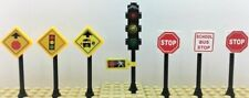 Lego City Town Village Street Traffic Light 2 Stop Signs & more (7)