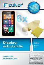 6x Ecultor Nokia Lumia 630 Film de protection d'écran protecteur cristal clair