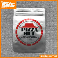 BACK TO THE FUTURE Prop - PIZZA HUT silver packaging bag - BTTF Movie Prop