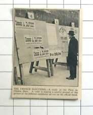 1936 French Election, Place De L'opera Paris, Studying Posters