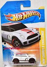 HOT WHEELS 2011 NEW MODELS MINI COOPER S CHALLENGE WHITE W+