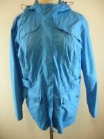 Eddie Bauer Womens XL WeatherEdge Plus Blue Windbreaker Jacket Hooded Waterproof