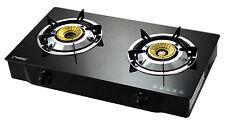 PS-2 Gas Stove Cooker 2 burners Hob Freestanding Glass Indoor Caravan 7.2kW NEW