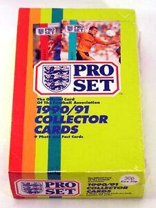 1990-91 Pro Set Soccer Football Box Sealed (48 Packs)