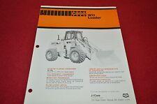 Case Tractor W11 Loader Dealers Brochure DCPA4