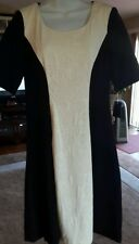 GABBY SKYE Ivory and black Scoop Neck Dress Size 6 ~ NWT Reg Retail $88