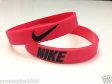Nike Sport Baller Band Silicone Rubber Bracelet Wristband red/black