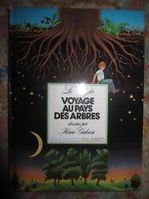 Vtg HC book, Voyage Au Pays Des Arbres by Le Clezio, illus. Henri Galeron, 1981