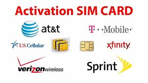USA Activation Sim Card Verizon AT&T Sprint Xenon iPhone 6S 7 8 X XS 11 12