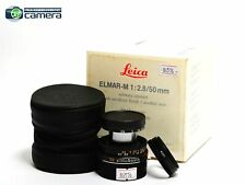 Leica Elmar-M 50mm F/2.8 E39 Lens Black *EX in Box*