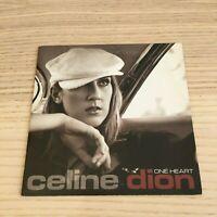 Celine Dion _ One Heart _ CD Single 2 Tracce card sleeve  _ 2003 Sony