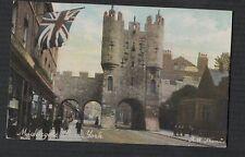 Micklegate Bar York. Union Jack. Shops.   vintage postcard  zd.357
