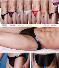 G308 Mens Sexy Bikini Low Rise Silky Satin Knit Week Underwear