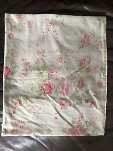 Rachel Ashwell Shabby Chic Couture Rare Green Cotton Velvet Pillow Cover