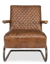 "28"" Long Aida Hills Chair Top Grain Cuba Brown Leather Handmade 882"