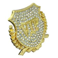 Luxury Crystal VIP Gold Metal Side Trunk Badge Emblem Sticker For Cadillac Buick
