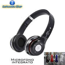 CUFFIE WIRELESS CON MICROFONO INTEGRATO BLUETOOTH FM RADIO TF SMARTPHONE