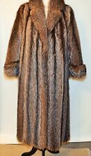 high quality genuine raccoon womens petite coat size m
