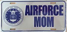 AIRFORCE MOM  Premium Embossed License Plate (LP-1109-163)