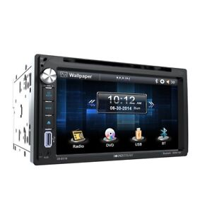 "Soundstream 6.5"" Double DIN DVD Bluetooth,Touch Screen, USB, SD VR-651B NEW"